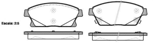 Колодки тормозные дисковые Remsa, комплект. 143102143102