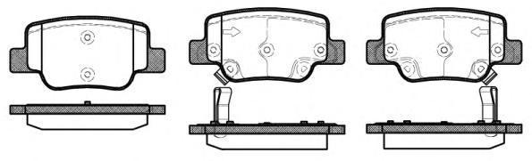 Колодки тормозные дисковые Remsa, комплект. 145202145202
