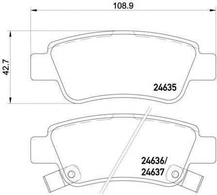 Колодки тормозные дисковые Textar, комплект. 24635012463501
