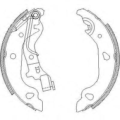 Колодки тормозные дисковые Remsa, комплект. 409800409800