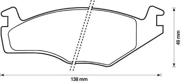 Колодки тормозные дисковые Jurid. 571848J571848J
