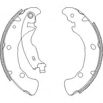 Колодки тормозные дисковые Remsa, комплект. 404100404100