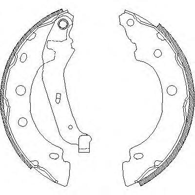Колодки тормозные дисковые Remsa, комплект. 404300404300