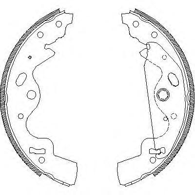 Колодки тормозные дисковые Remsa, комплект. 418100418100