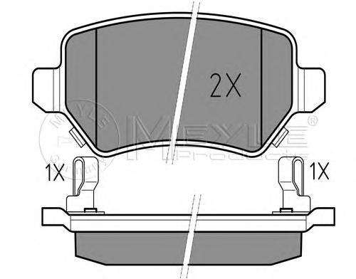 Колодки тормозные дисковые Meyle. 0252341715/W0252341715/W