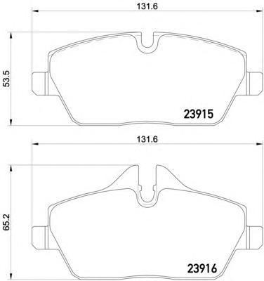 Колодки тормозные дисковые Textar, комплект. 23915032391503
