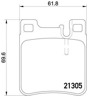 Колодки тормозные дисковые Textar, комплект. 21305012130501