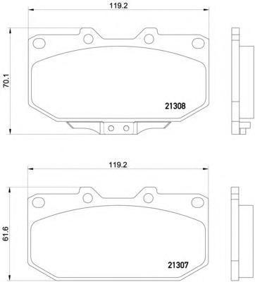 Колодки тормозные дисковые Textar, комплект. 21307012130701
