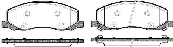 Колодки тормозные дисковые Remsa, комплект. 138602138602