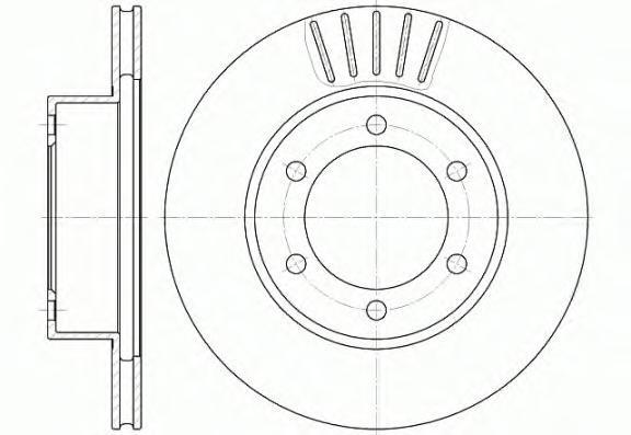 Диск тормозной Remsa, 2 шт. 656210656210