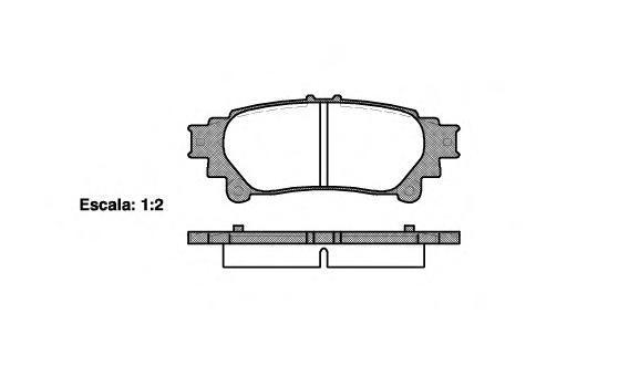 Колодки тормозные дисковые Remsa, комплект. 139500139500