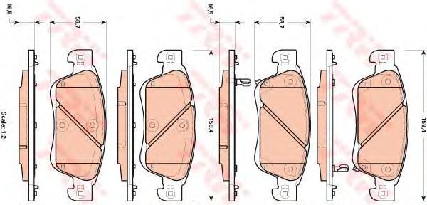 Колодки тормозные дисковые TRW. GDB3503GDB3503