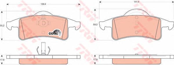 Колодки тормозные дисковые TRW. GDB4127GDB4127