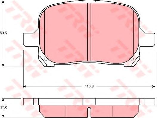 Колодки тормозные дисковые TRW. GDB3152GDB3152