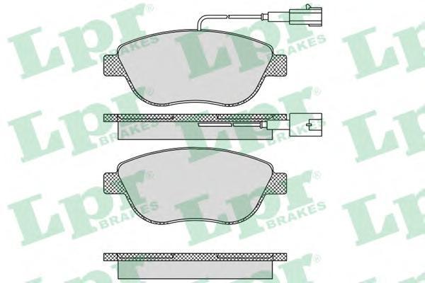 Колодки тормозные дисковые LPR / AP. 05P76405P764