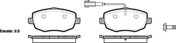 Колодки тормозные дисковые Remsa, комплект. 109901109901