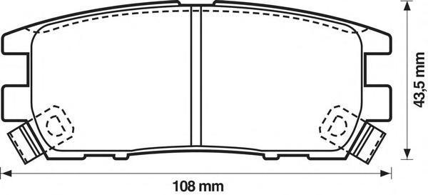 Колодки тормозные дисковые Jurid. 572200J572200J