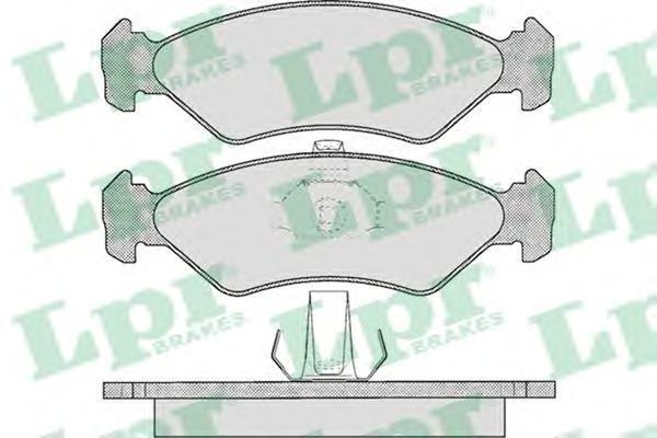Колодки тормозные дисковые LPR / AP. 05P62505P625