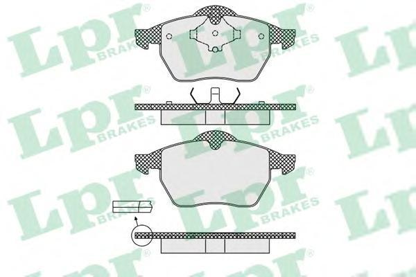 Колодки тормозные дисковые LPR / AP. 05P63905P639