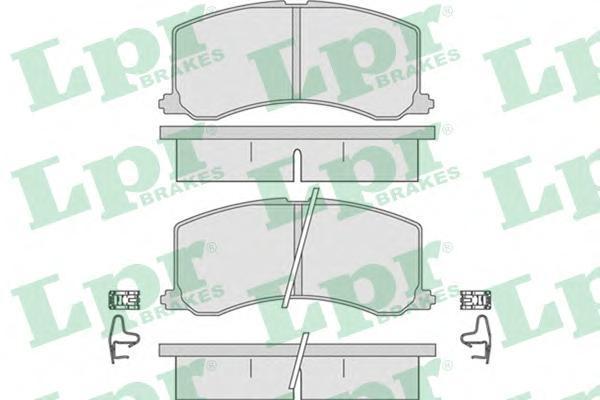 Колодки тормозные дисковые LPR / AP. 05P66505P665