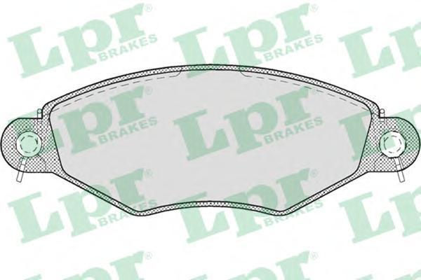 Колодки тормозные дисковые LPR / AP. 05P70805P708