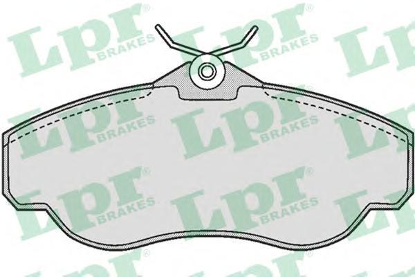 Колодки тормозные дисковые LPR / AP. 05P72805P728