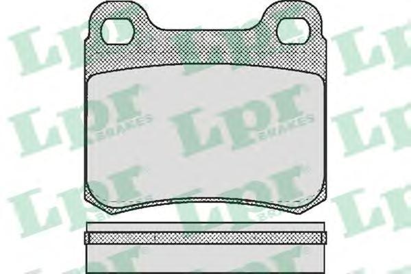 Колодки тормозные дисковые LPR / AP. 05P15805P158