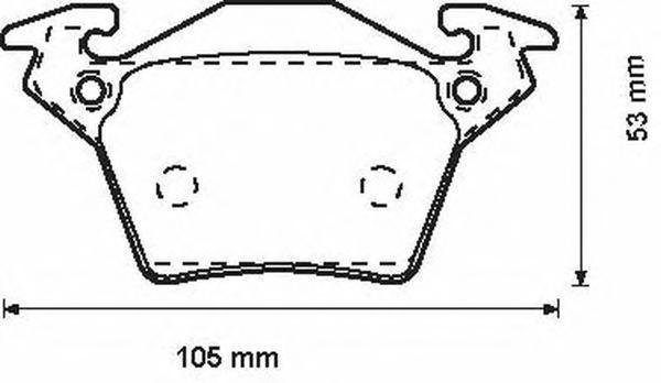 Колодки тормозные дисковые Jurid. 571947J571947J
