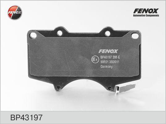 Колодки тормозные дисковые Fenox. BP43197BP43197