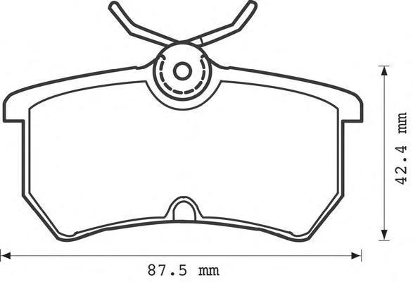 Колодки тормозные дисковые Jurid. 571998J571998J
