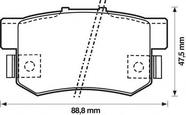 Колодки тормозные дисковые Jurid. 572138J572138J
