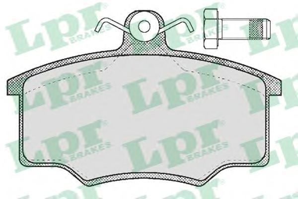 Колодки тормозные дисковые LPR / AP. 05P18705P187