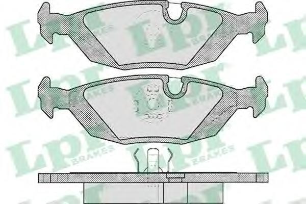 Колодки тормозные дисковые LPR / AP. 05P23805P238