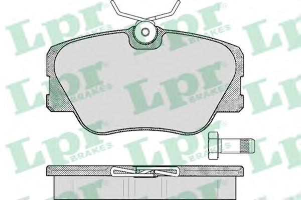 Колодки тормозные дисковые LPR / AP. 05P28005P280