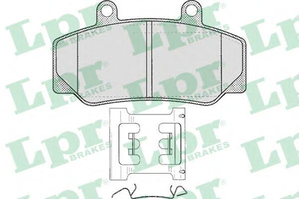Колодки тормозные дисковые LPR / AP. 05P31805P318