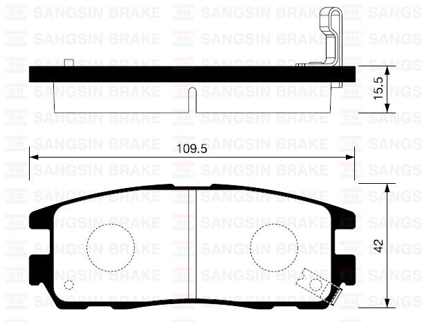Колодки тормозные дисковые Sangsin. SP2089SP2089