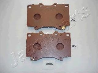 Колодки тормозные дисковые Japanparts. PA-268AFPA-268AF