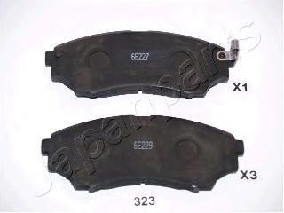 Колодки тормозные дисковые Japanparts. PA-323AFPA-323AF