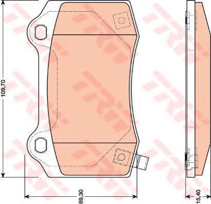 Колодки тормозные дисковые TRW. GDB4171GDB4171