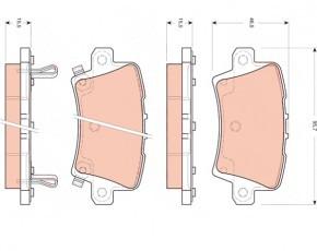 Колодки тормозные дисковые TRW. GDB3408GDB3408