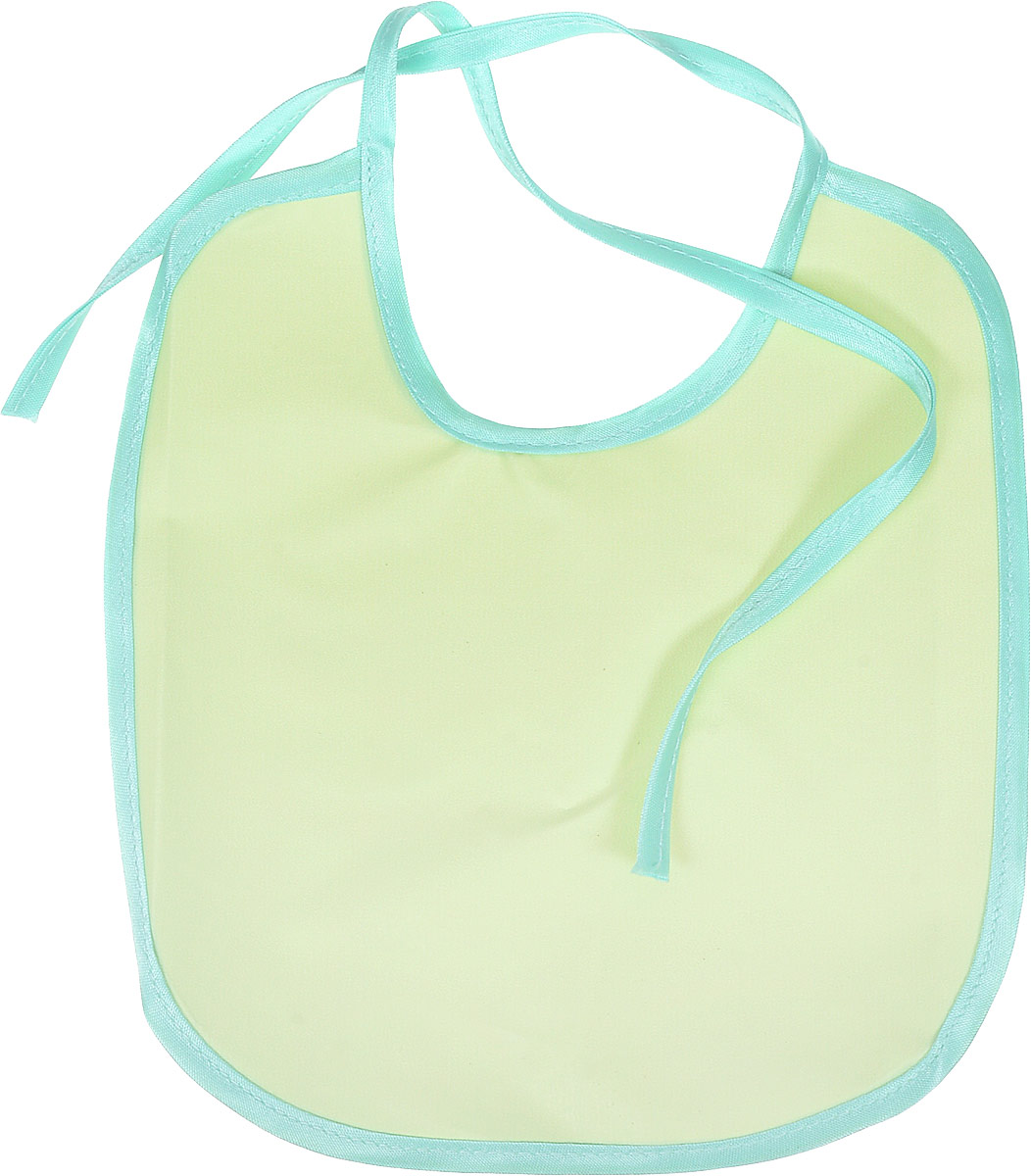 Колорит Нагрудник цвет мятный салатовый 20 см х 22 см -  Все для детского кормления