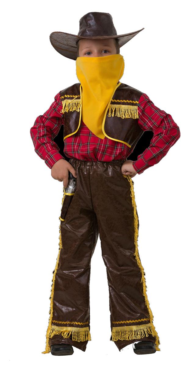 Батик Костюм карнавальный для мальчика Ковбой цвет желтый размер 34 костюм зловещего шута детский 38 40