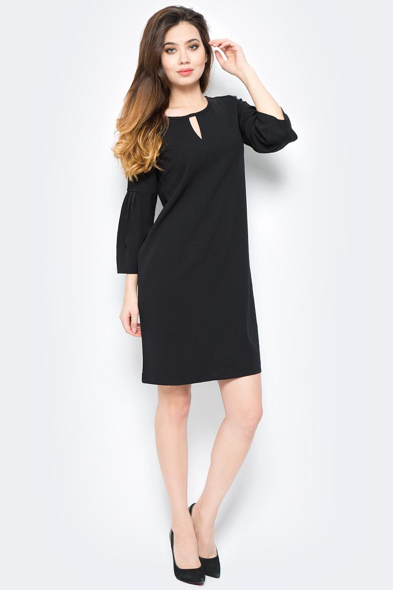 Платье женское Sela, цвет: черный. DK-117/1180-8121. Размер XS (42) платье sela sela se001ewznc53