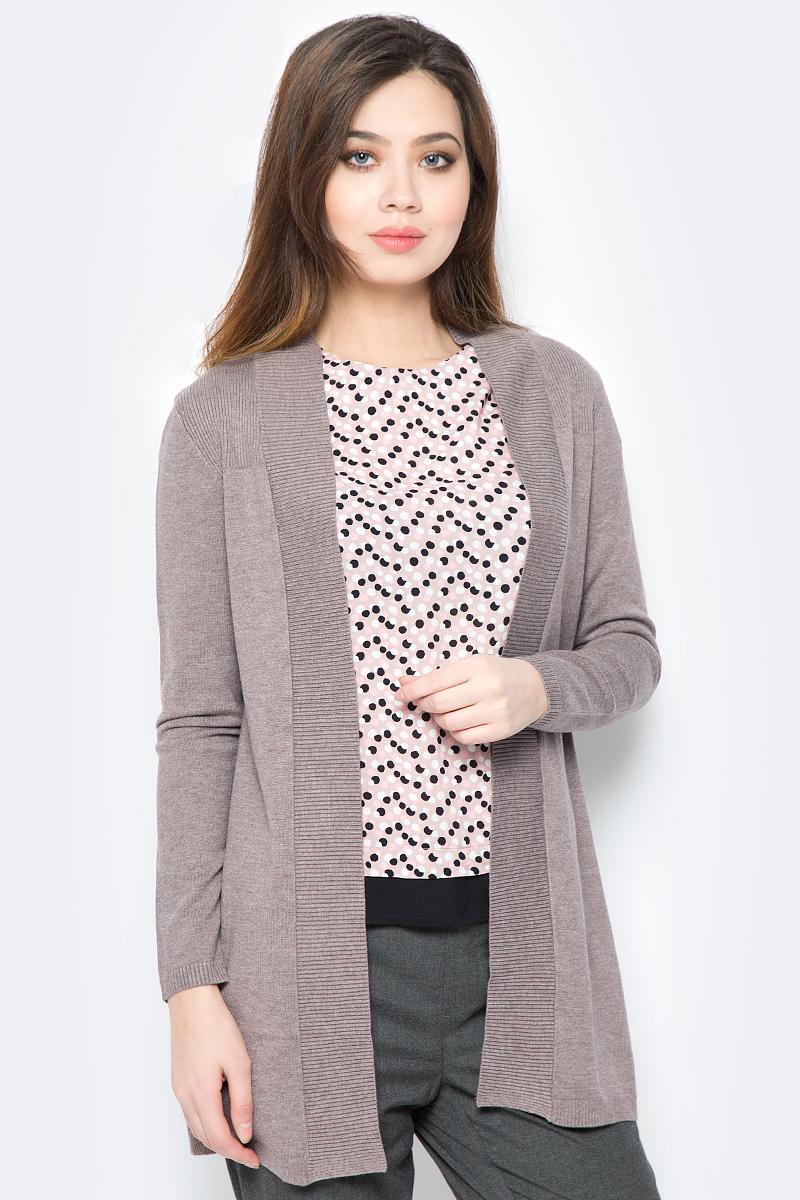 Кардиган женский Sela, цвет: серо-коричневый меланж. CN-114/696-8121. Размер XS (42) цена 2017