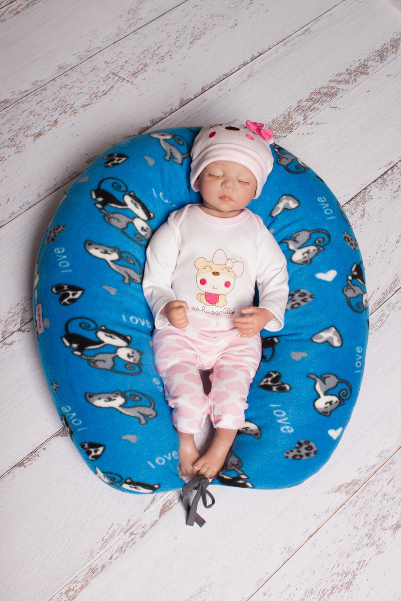 40 недель Подушка для беременных и кормления цвет голубой серый 170 х 30 см - Подушки для беременных и кормящих