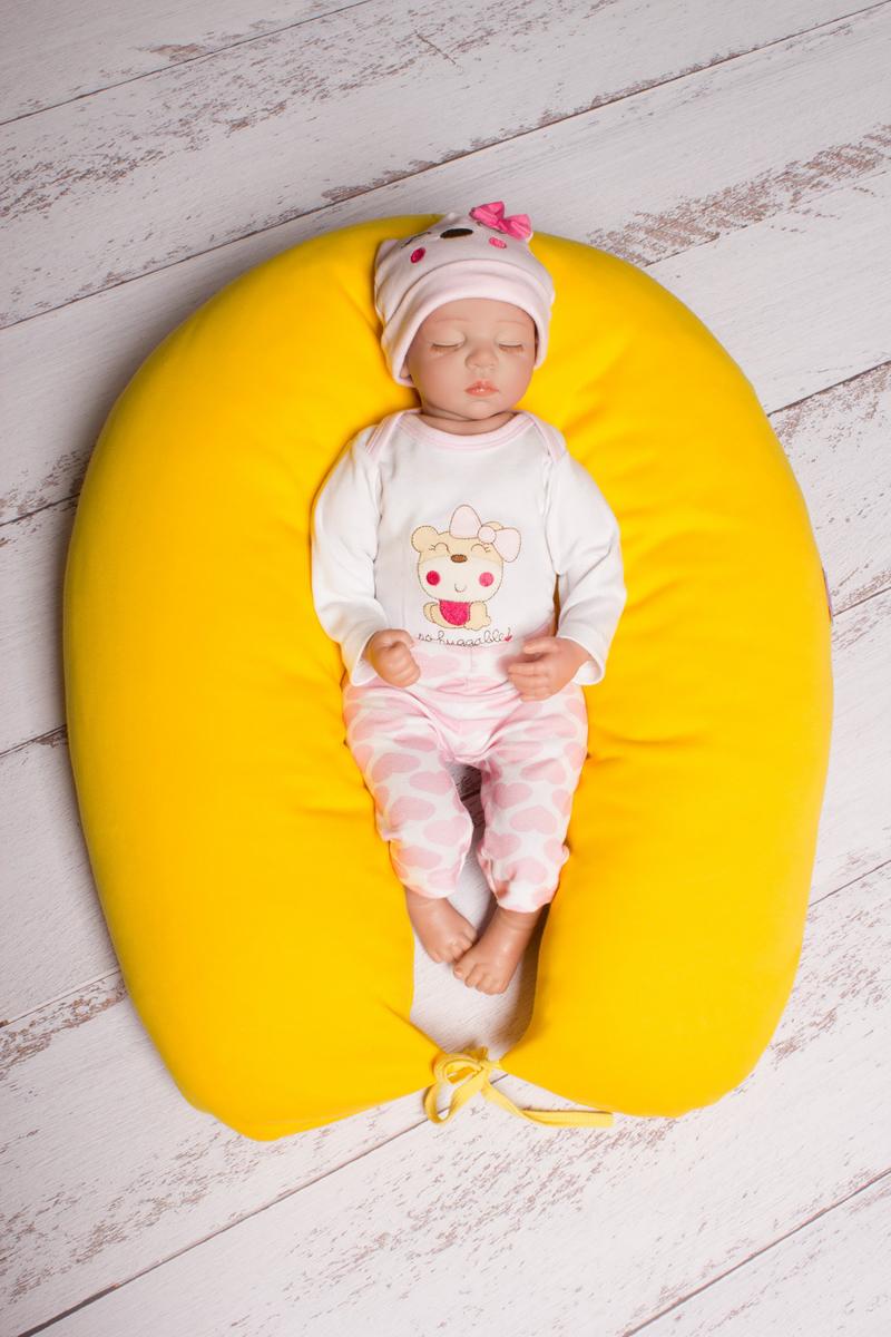 40 недель Подушка для беременных и кормления цвет желтый 190 х 35 см - Подушки для беременных и кормящих