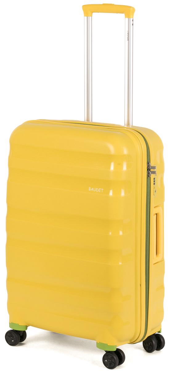 Чемодан Baudet, цвет: желтый, 78,6 лBHL0708807-60Чемодан Baudet, цвет: желтый, 78,6 л