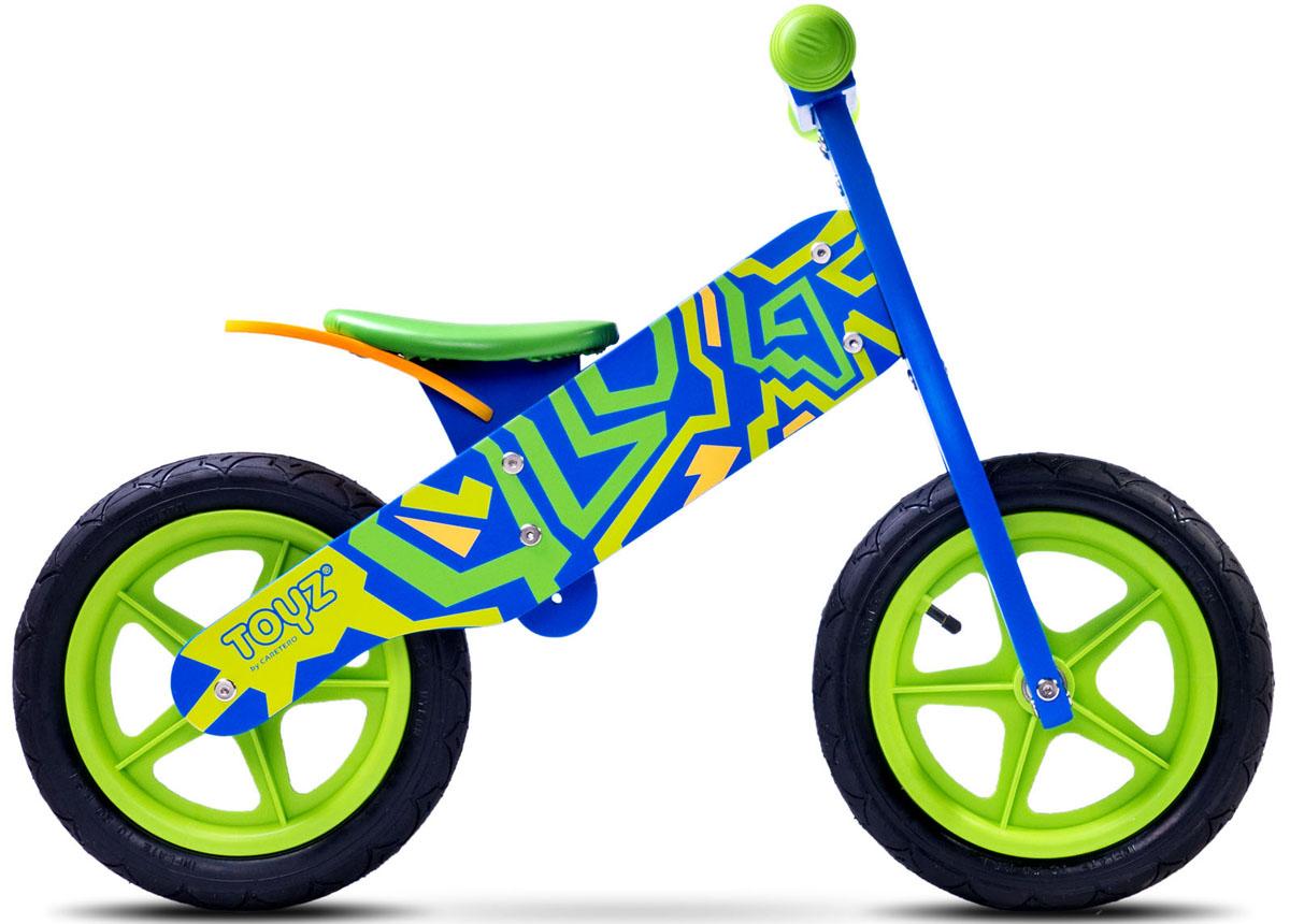 Caretero Беговел детский Zap цвет голубой-зеленый chillafish беговел детский jack