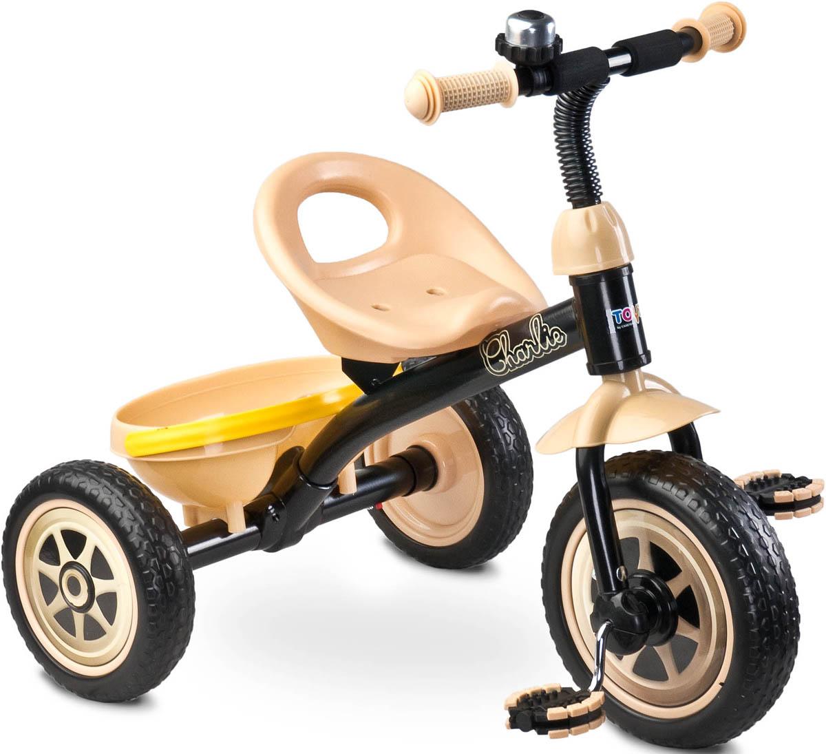 Caretero Велосипед трехколесный детский Charlie цвет бежевый