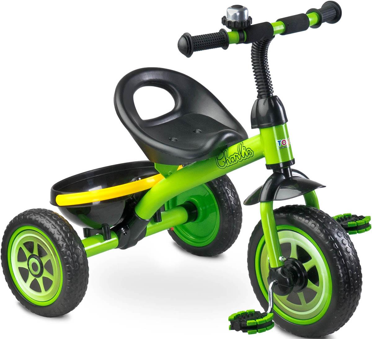 Caretero Велосипед трехколесный детский Charlie цвет зеленый